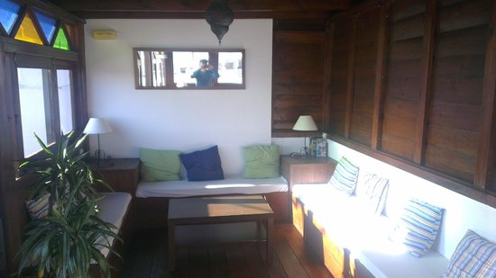 Hostal Africa: Chill out room on roof