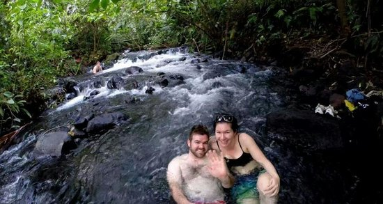 Free Natural Hot Springs: Relaxing in the warm water!