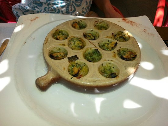 Restaurant La Tour du Plan : mussel starters . Extraordinary