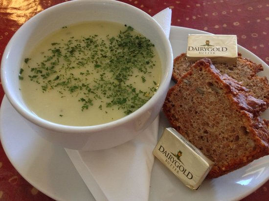 The Blind Piper: Potato and leek soup.