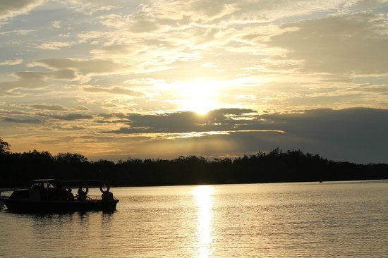Kuching Wetlands National Park: tramonto