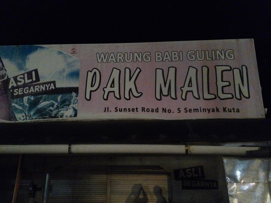 Warung Babi Guling Pak Malen: at night