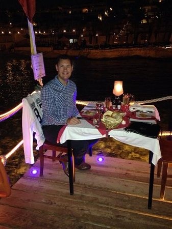 Xperience Sea Breeze Resort: romantic meal on the jetty well worth it!