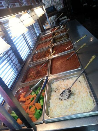 The lunch buffet hot table at Ambiance of India - only $11.99
