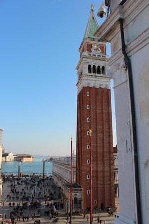 campanile di san marco dalla torre dell'orologio