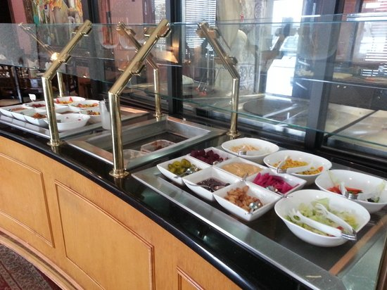 Salad bar at the $11.99 lunch buffet at Ambiance of India
