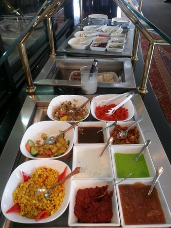 Lots of traditional Indian salads at the lunch buffet at Ambiance of India