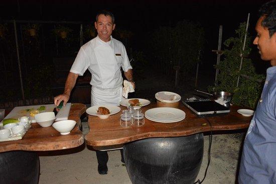 Shangri-La's Villingili Resort and Spa Maldives: Executive Chef & Garden Dinner