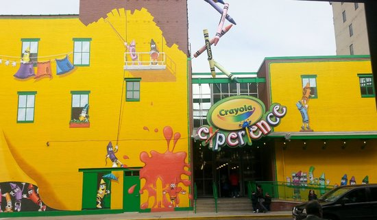 Crayola Experience: Entry on Central Square