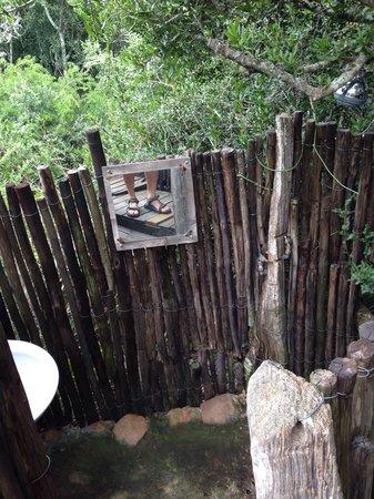 Addo Dung Beetle Guest Farm : Dusche und Waschbecken