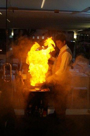 A Vela Branca: beim flambieren