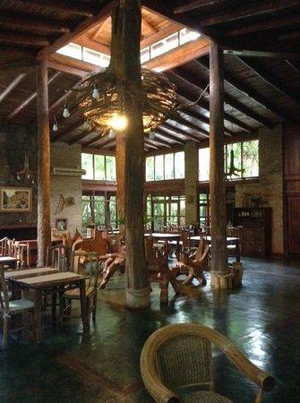 La Aldea de la Selva Lodge : Lodge reception and dining hall