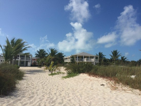 Aquamarine Beach Houses: View of Aquamarine Property from Walkway to Beach