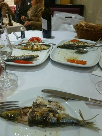 Restaurante Cervejaria Lisboa Portugal : SARDINHAS  ASSADAS