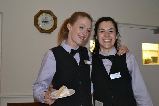 Queens Hotel: Two waitresses who made us feel special guests, not just a group who will be gone in a few days.