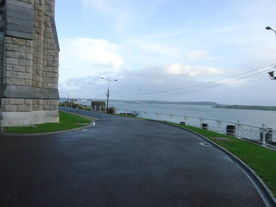 Cobh Cathedral : The view from the carpark