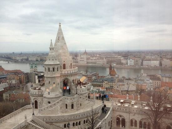 Hilton Budapest: view from our room