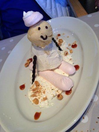 LE PANORAMIC : un bonhomme de neige pour terminer ces agapes .....