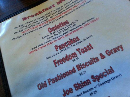 Fina's Diner: Freedom Toast isn't Free.