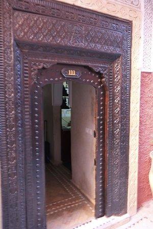 Front door of Riad Shambala