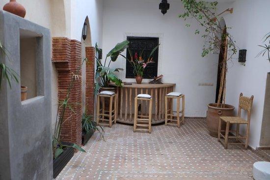 Open courtyard of Riad Shambala