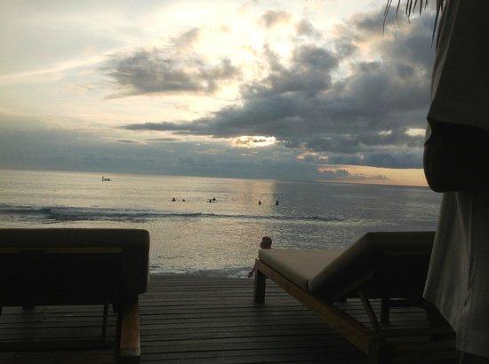 Qunci Villas Hotel : vu sur la mer avec coucher de soleil