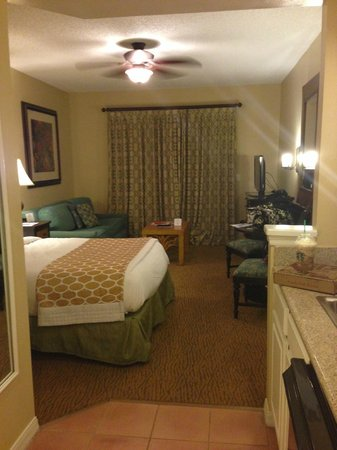Hilton Grand Vacations at SeaWorld: Studio; one Queen bed.