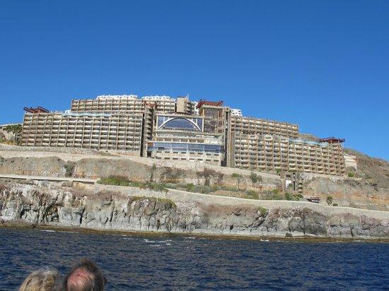 Gloria Palace Amadores Thalasso & Hotel : Foto taget fra båden til Mogan