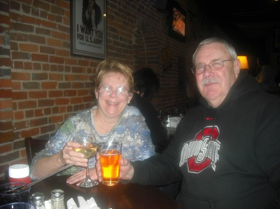 Fort Mulligan's Grillpub: My wife and me