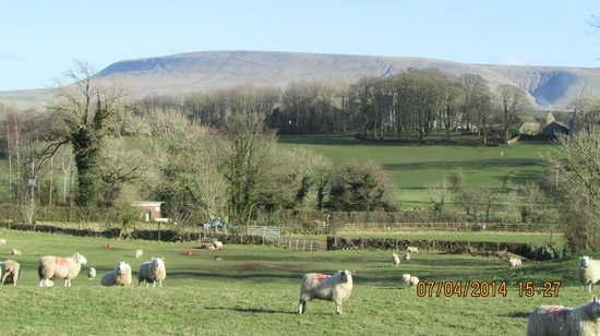 The Old Posthouse Hotel: Looking towards Pendle Hill. Lots of good walks from the hotel.