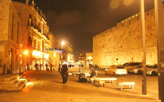 New Imperial Hotel: Imperial Hotel on left as walking into Old City at Jaffa Gate