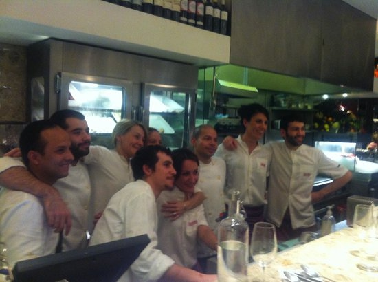 Barrafina: All the staff together! A great team.