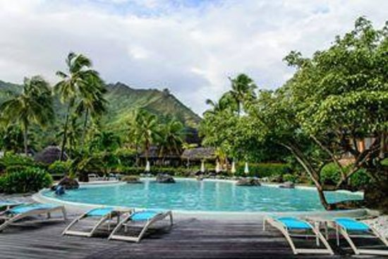 Our bungalow picture of hilton moorea lagoon resort for Garden pool bungalow intercontinental moorea