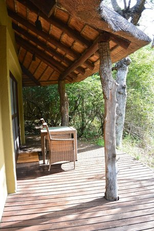 Londolozi Founders Camp: Back deck of room 2