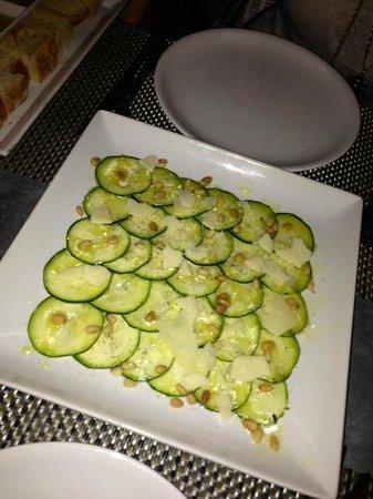 Fig & Olive Fifth Avenue: Zucchini Carpaccio