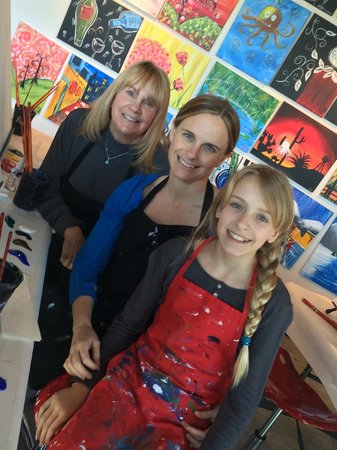 The Paint Mixer: Mom, Me & My Daughter getting ready to paint