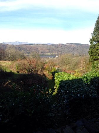Linthwaite House : Out side my  Luxury Lake View king-size doublebedded room with en-suite facilities & Hot Tub