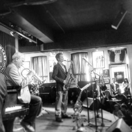Pat Mallinger and Bobby Lewis at the Jazz Showcase