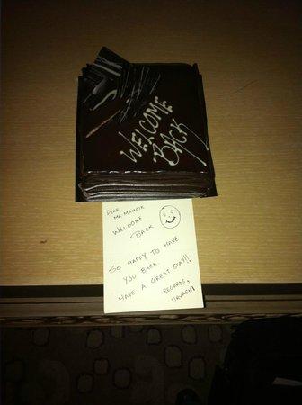ITC Maratha, Mumbai: welcome chocolate cake - very delicious