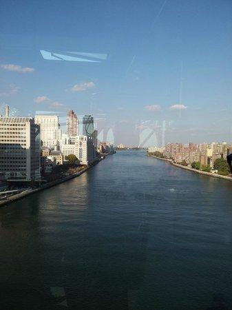 Roosevelt Island Aerial Tram: Vista de Manhattan a partir da Roosevelt Island