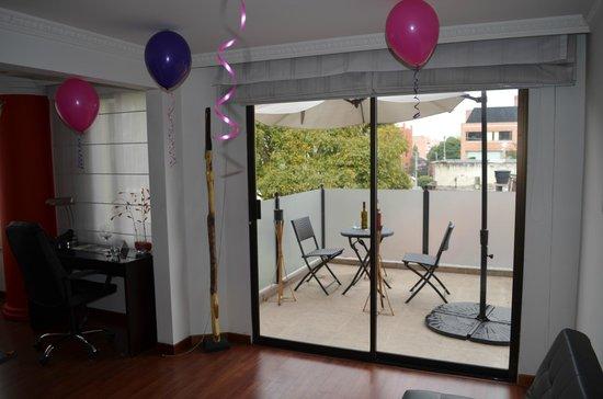 Suites 109: terraza