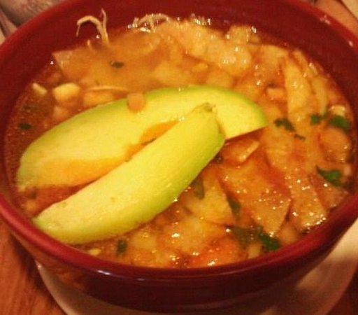 El Potrero: Mexican soup with avacado