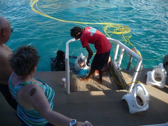Sea Trek St. Maarten: Just before going down.