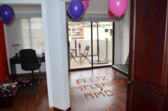 Suites 109: decoración de cumpleaños