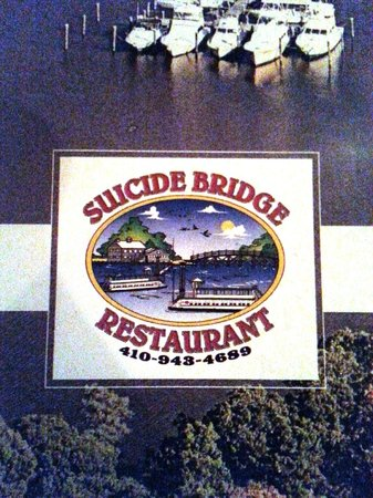 Suicide Bridge Restaurant: Menu Cover