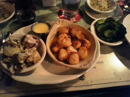 Suicide Bridge Restaurant: Scallops, Crazy Potatoes, and Squash