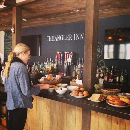 The Angler Inn : breakfast bar in the morning