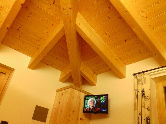 Agriturismo La Val: soffito della camera