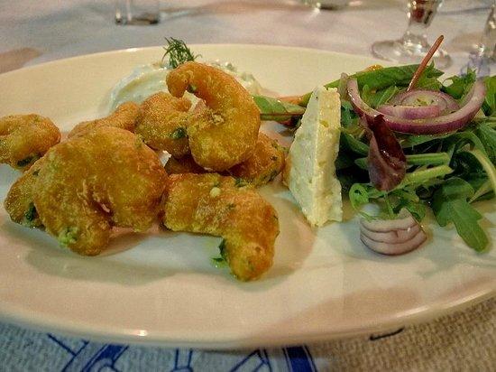 Restaurant Athena : Shrimp with salat and feta cheese