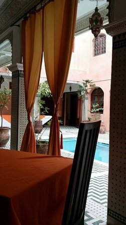 Riad Amssaffah: view after breakfast
